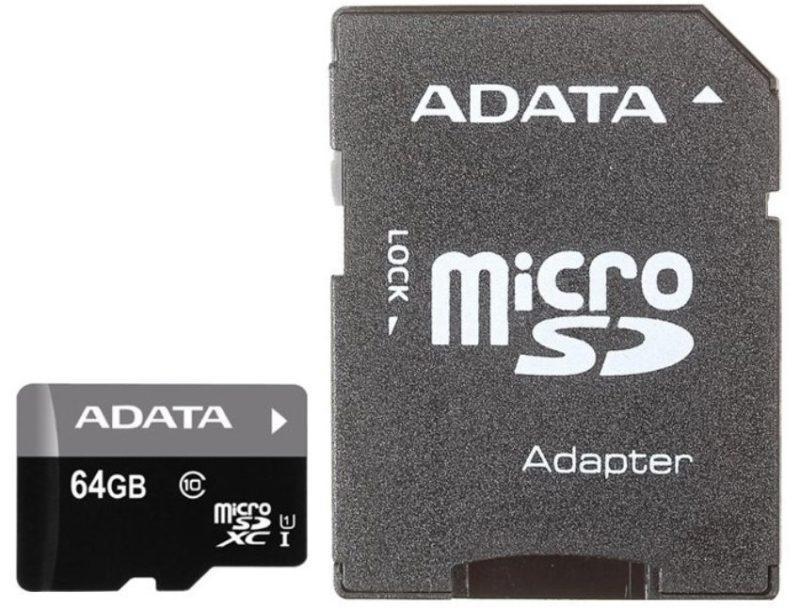 ADATA Premier microSDXC Class 10 UHS-I U1 + SD adapter фото