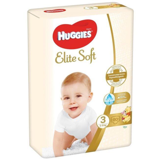 Huggies підгузники Elite Soft 3 (5-9 кг) 90 шт.