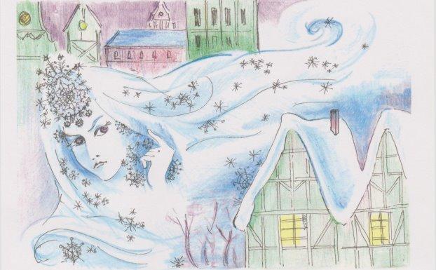 Розповідь про снігове містечко