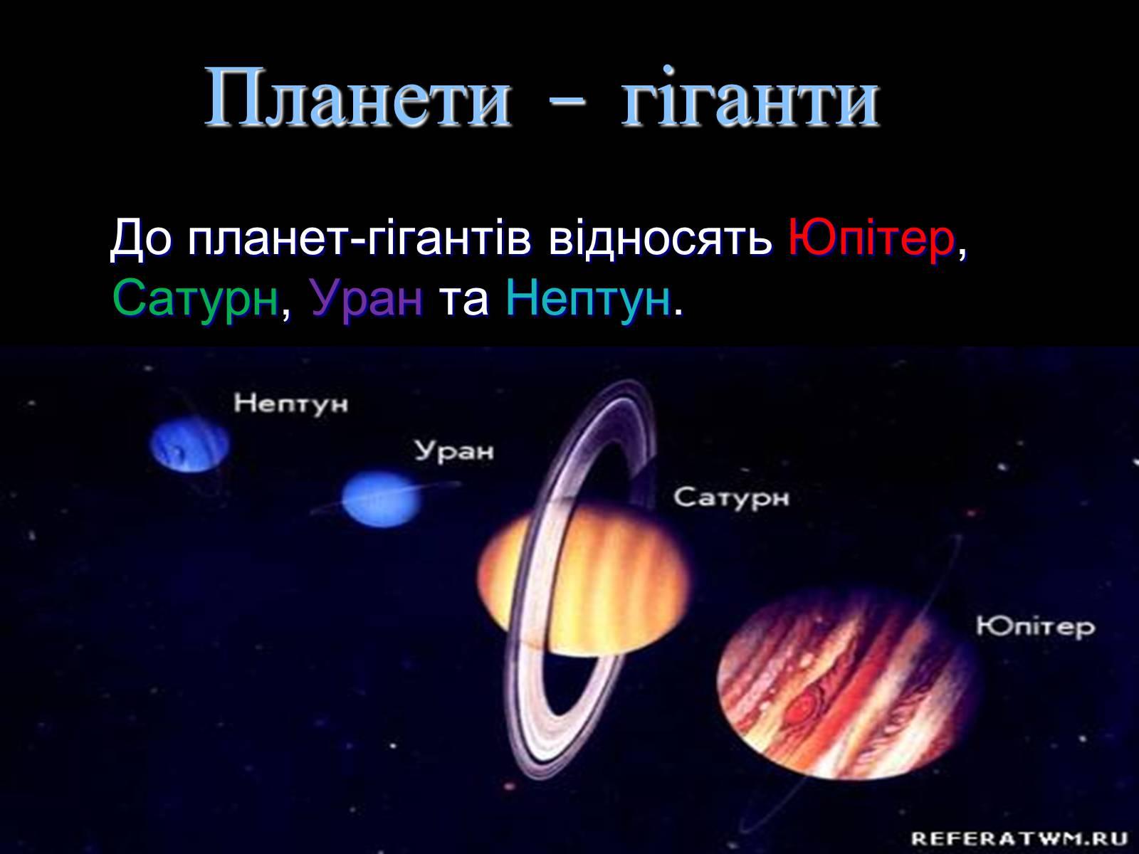 Планети гіганти: характеристика і особливості, цікаві факти