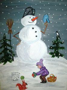 Снігове містечко розповідь
